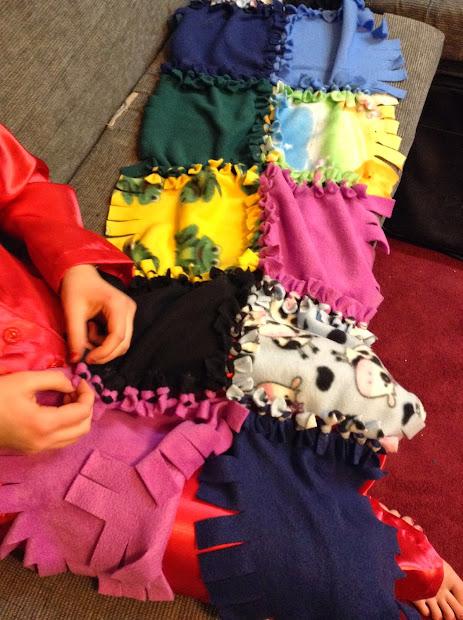 Show Sewing Tutorial - Putting Fleece Tie