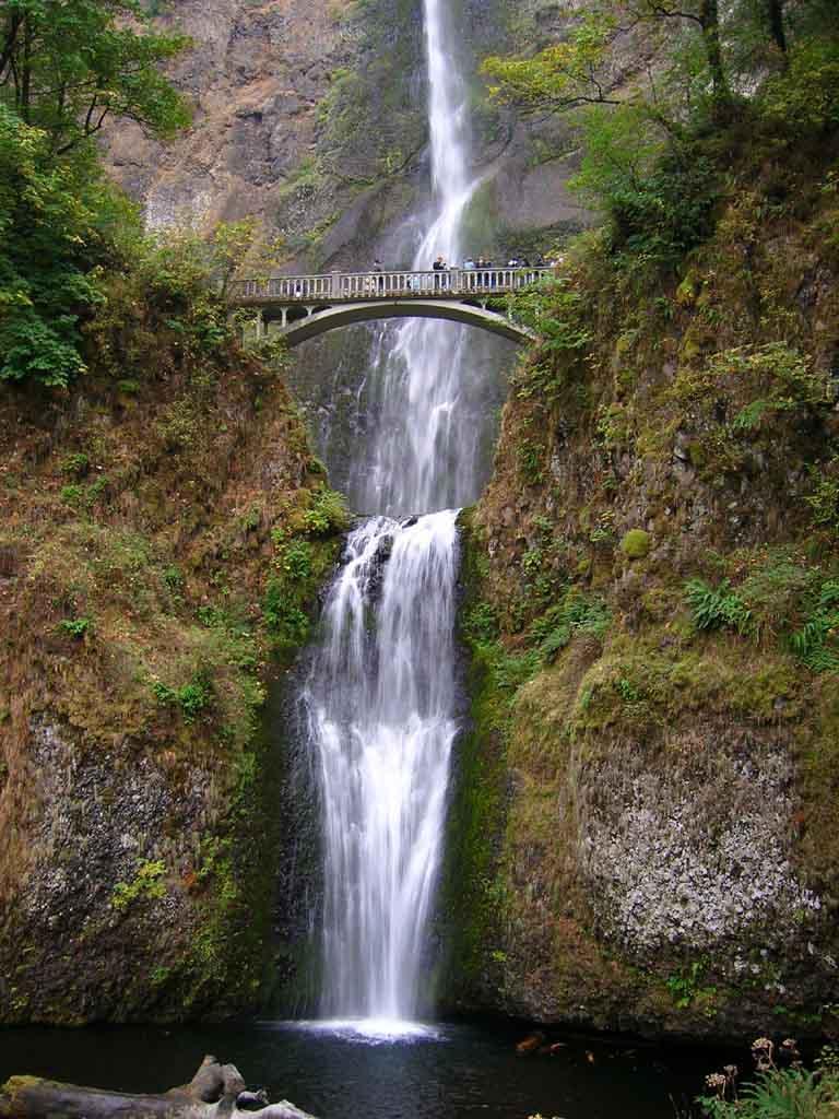 Multnomah Falls Oregon Wallpaper Multnomah Falls Oregon Lugares Fant 225 Sticos