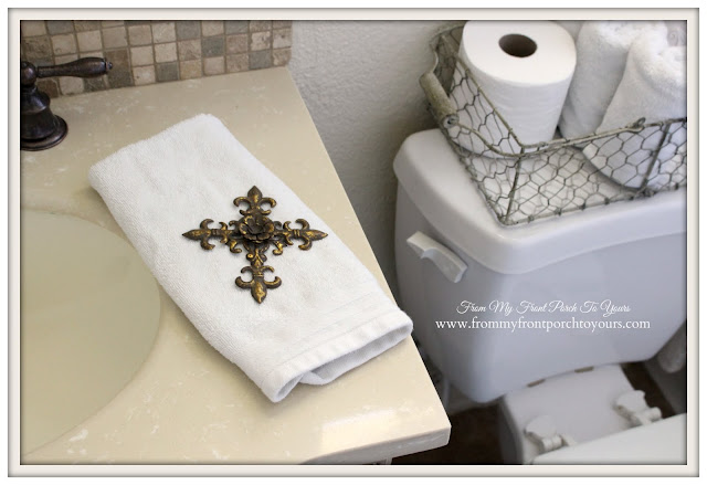 Farmhouse Guest Bathroom-Hand towel- From My Front Porch To Yours