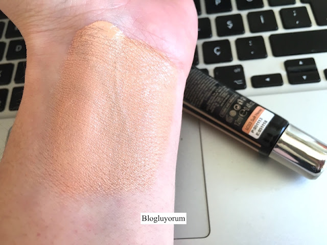 flormar lifting concealer lc03 soft honey swatch 2