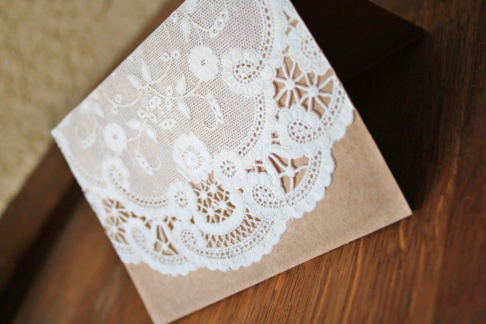 DIY Paper Doily Invitations