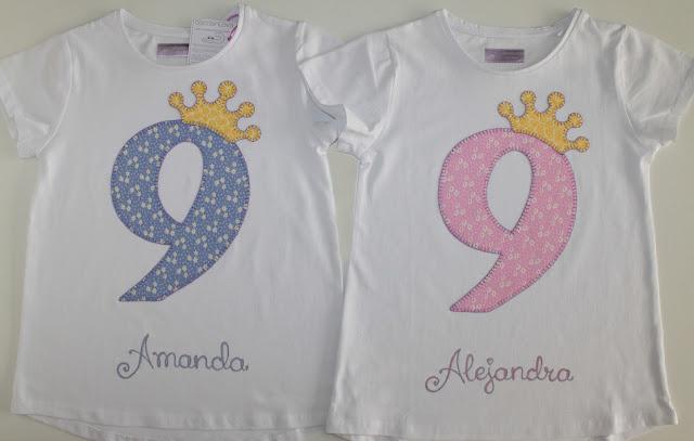 camiseta-cumpleaños-9años-gemelas