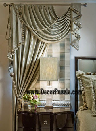 the best curtain styles and designs ideas 2015. Black Bedroom Furniture Sets. Home Design Ideas