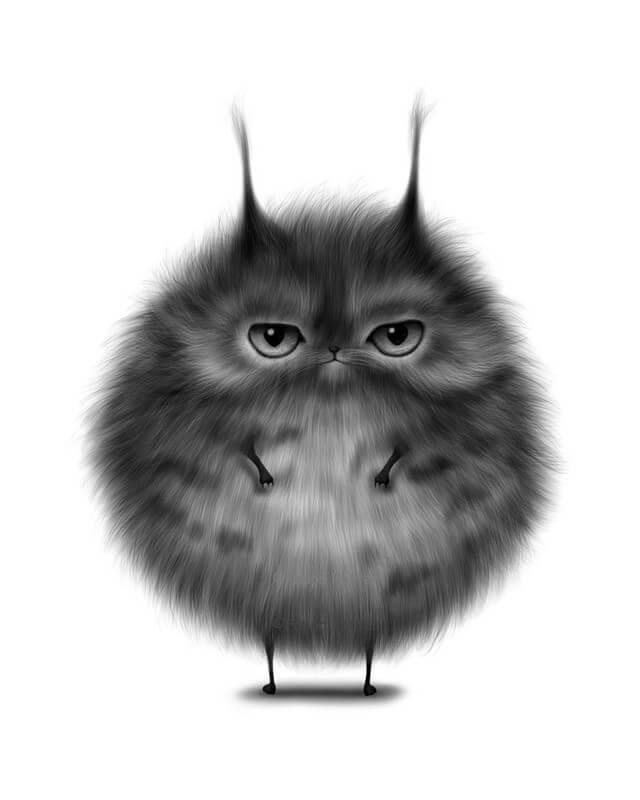 01-Round-Cat-Maria-Fluffy-Animals-in-Digital-Art-Creatures-www-designstack-co
