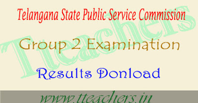 Group 2 exam result tspsc - Telangana Group 2 results marks sheet download