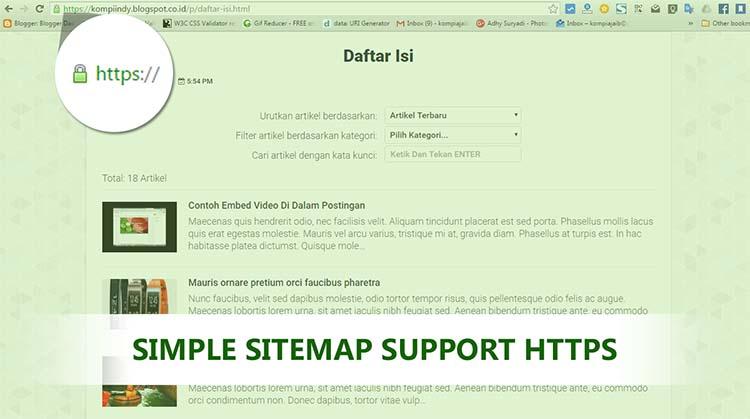 Membuat Daftar Isi Blog Lengkap Dan Support HTTPS