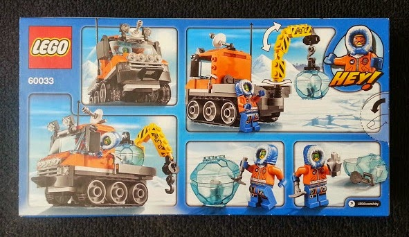 LEGO City Arctic Ice Crawler 60033 Review Back Of Pack Shot