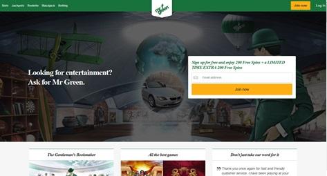 Mr Green - Casino en línea galardonado