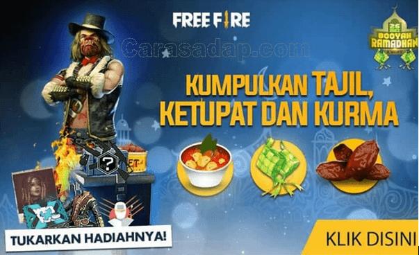 Cara mendapatkan ketupat kurma dan takjil di free fire