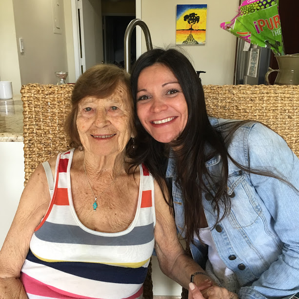My Wife tatiana and Her 90 year old Grandmother