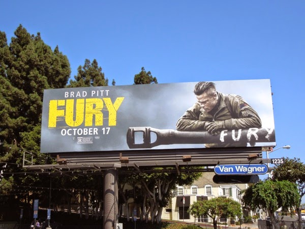 Brad Pitt Fury movie billboard
