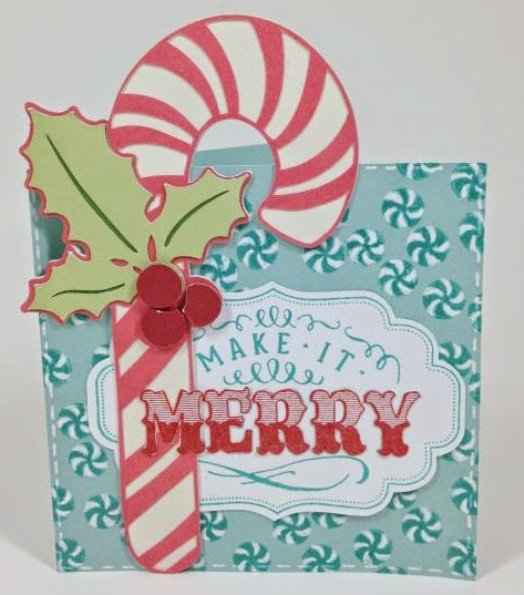 Make It Merry Candy Cane card
