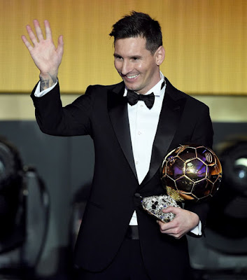 1h - Lionel Messi wins Ballon d'Or for fifth time - more pictures