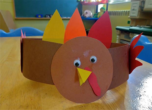 Preschool Thanksgiving Crafts Turkey Hat