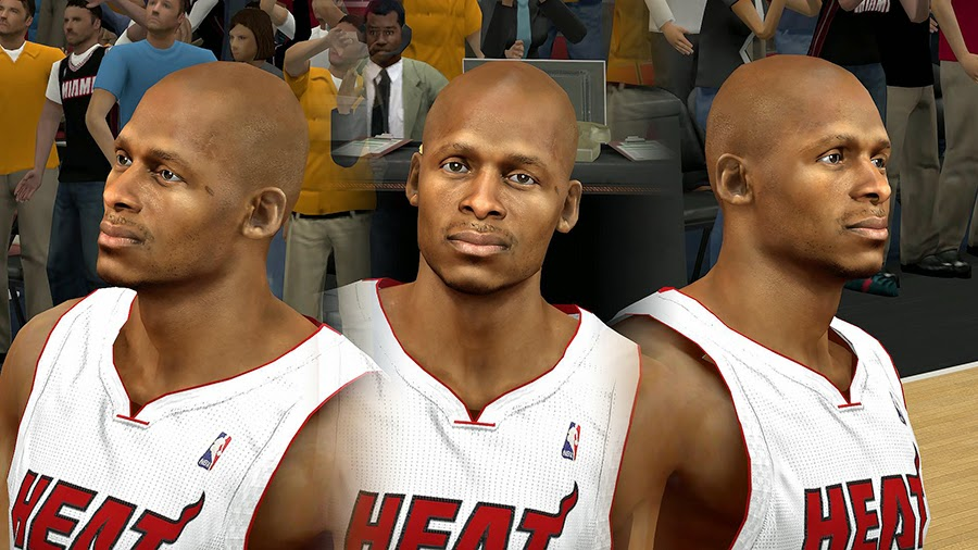 NBA 2K14 Ray Allen HD Face Patch