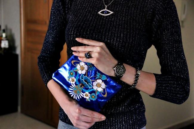 Glam Chameleon Jewelry hematite and Swarovski bracelet