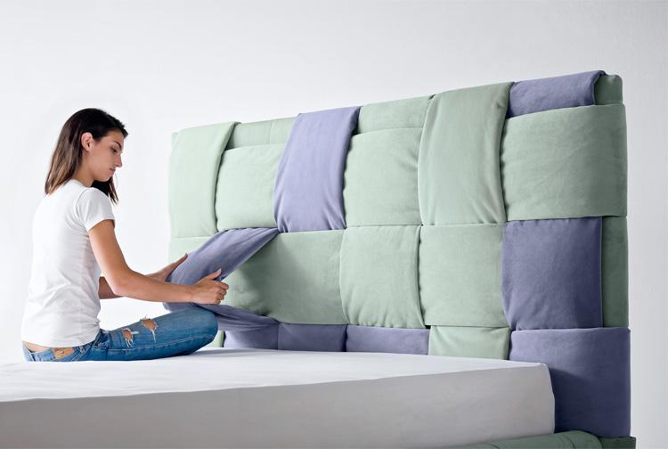 Testiera letto originale per chi volesse dei cuscini per for Testiera letto originale