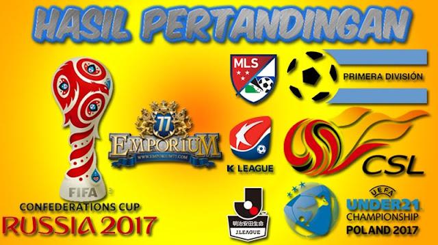 Hasil Pertandingan Sepakbola Tanggal, 21-22 November 2017