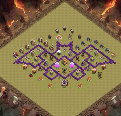 base de guerra cv7 a base morcego clash of clans sxx