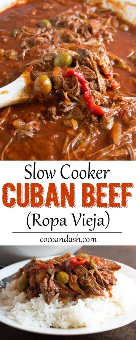 Ropa Vieja ( Slow Cooker Cuban Beef )