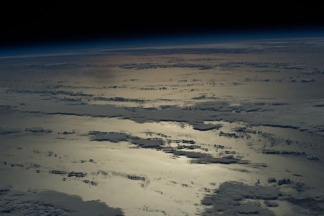 Pacific Ocean seen from the International Space Station