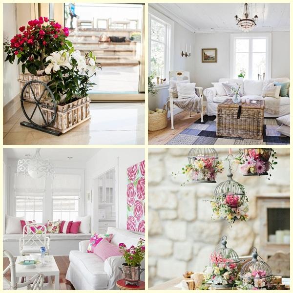 decoração com móveis flores