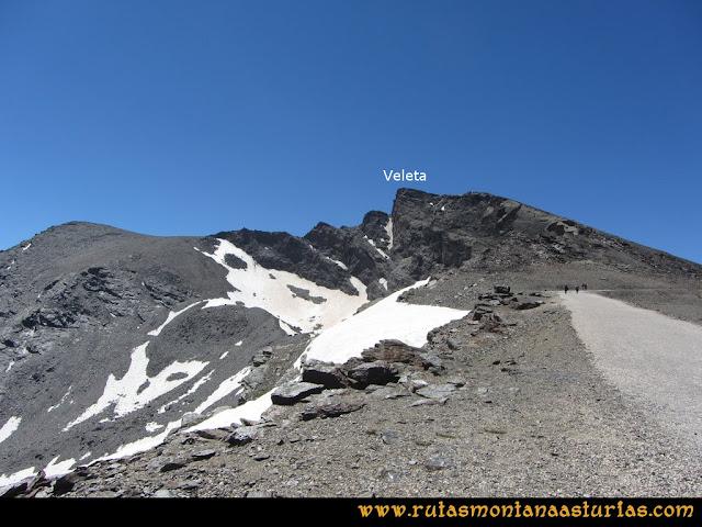 Ruta Hoya de la Mora - Veleta: Posiciones de Veleta