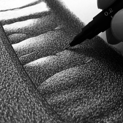 08-Hard-Rock-Detail-Alessandro-Paglia-Photo-Like-Black-and-White-Drawings-www-designstack-co