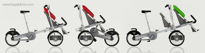 Taga bike and stroller modular design