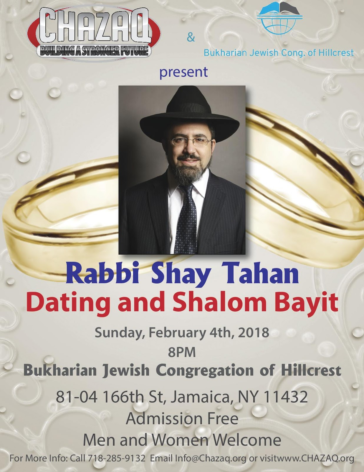 CHAZAQ: Rabbi Shay Tahan - Dating and Shalom Bayit