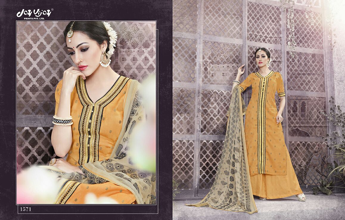 Desi Rasa – Fabulous Long Length Palazzo Style Cotton Salwar Suit