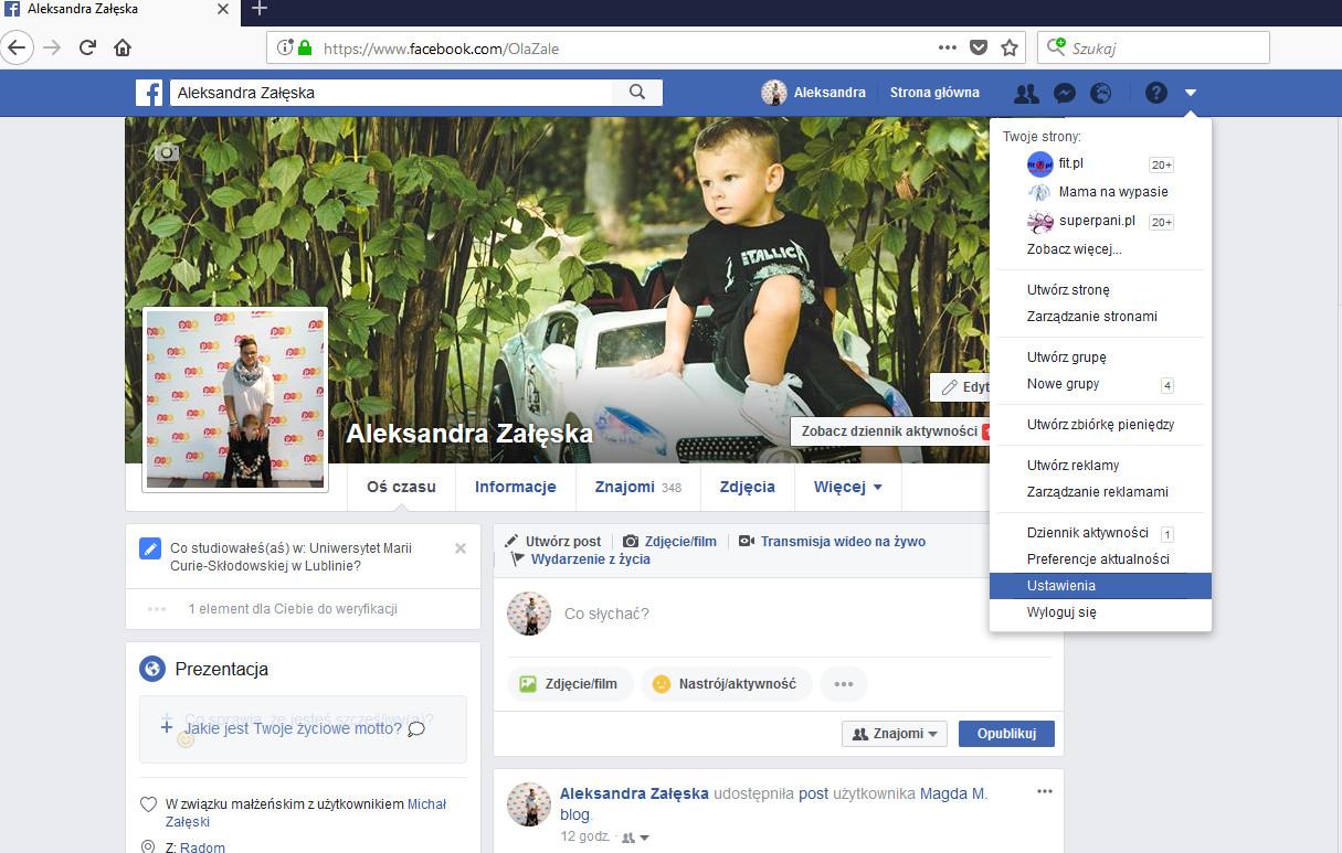 ustawienia prywatności na facebooku