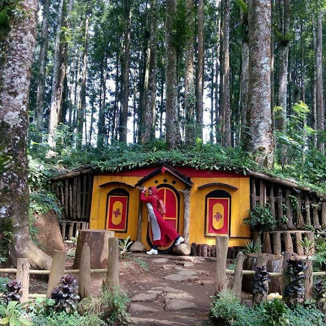 rumah hobbit di kampung kurcaci