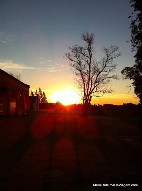 Por do sol na Bodega Bouza - Montevidéu, Uruguai