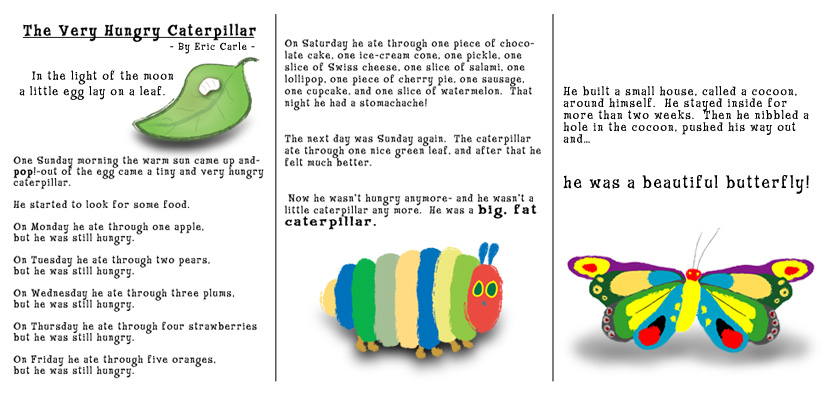 It is a photo of Unforgettable The Very Hungry Caterpillar Printable Book