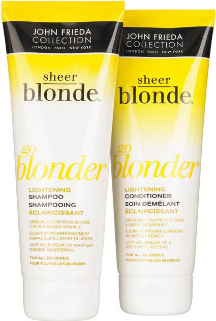 john frieda sheer blonde helps you go even lighter brighter and blonder beauty crazed in canada. Black Bedroom Furniture Sets. Home Design Ideas