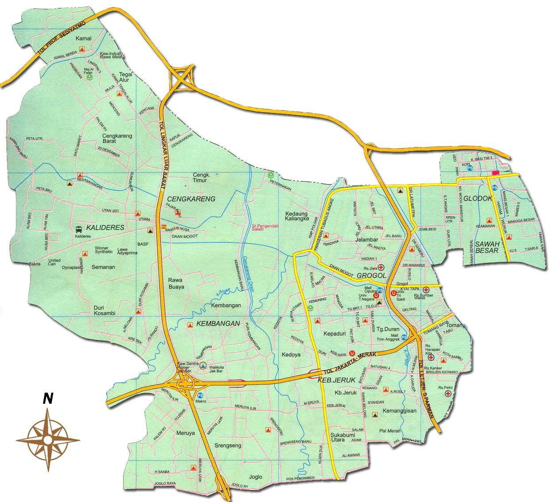 Peta Jakarta Barat