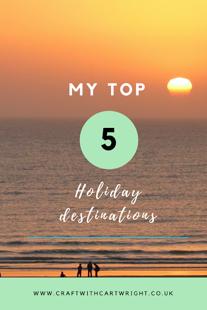 top five holiday destinations