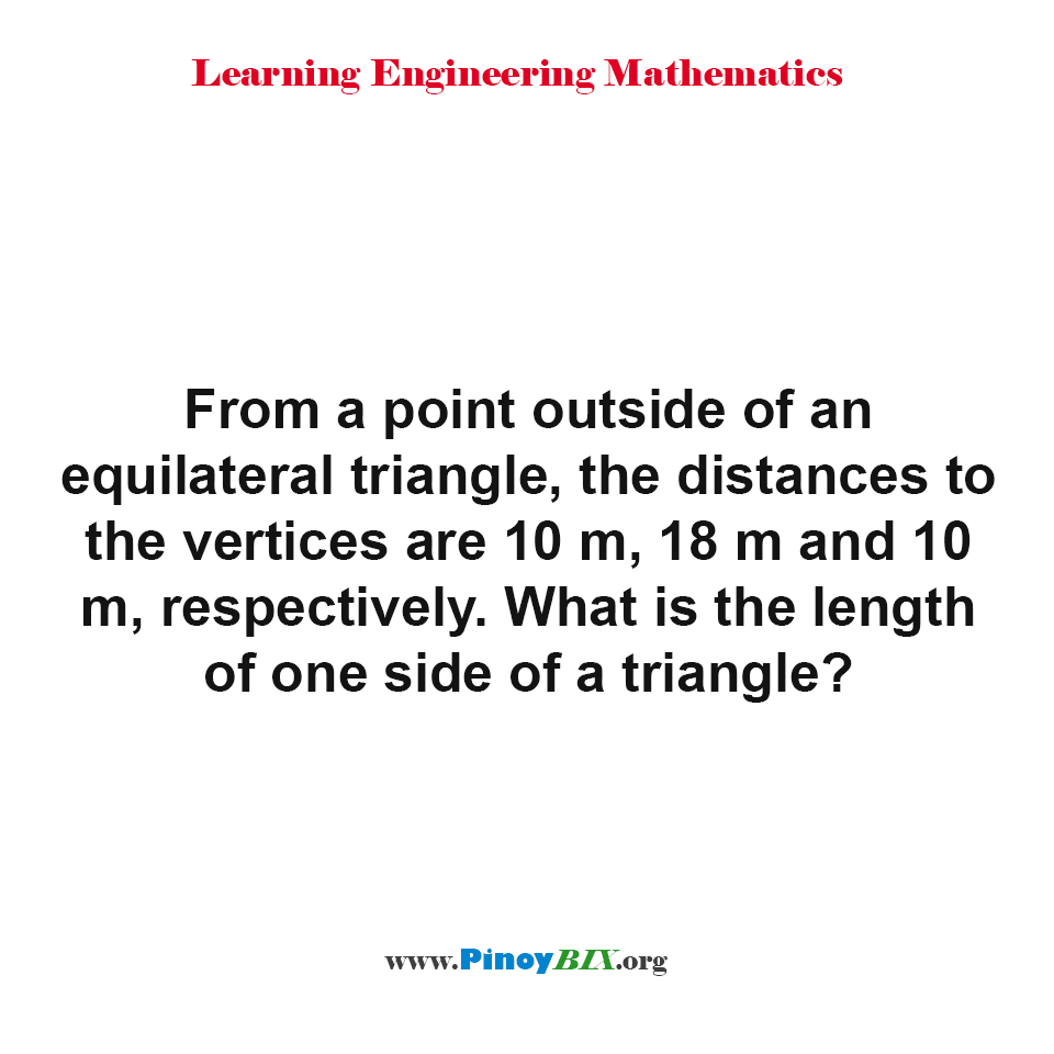 What is the length of one side of a triangle?