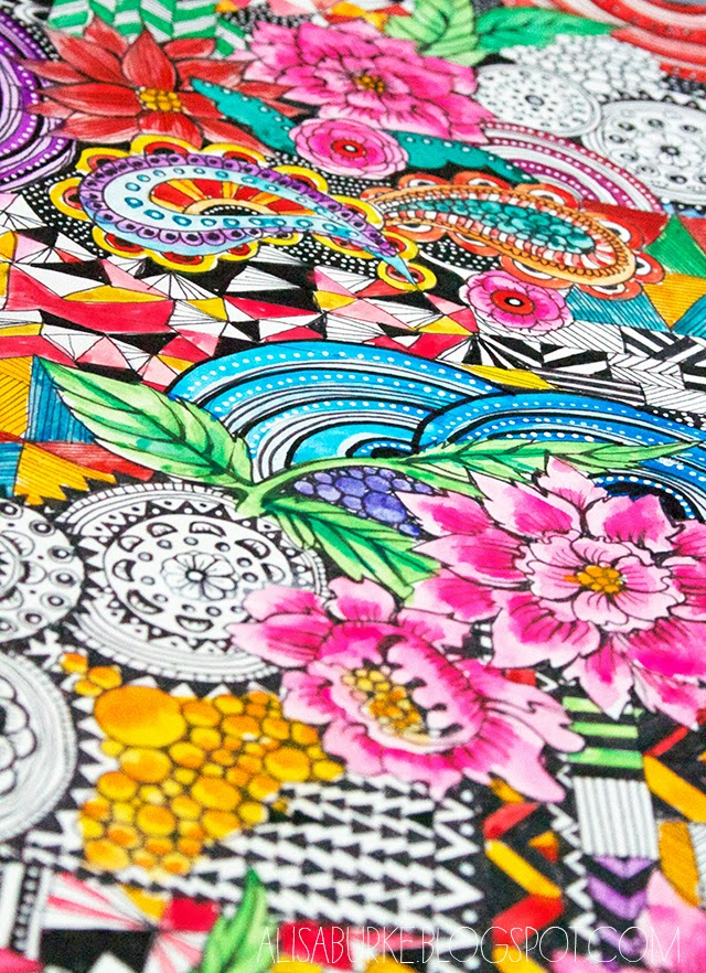 Inside My Colorful World Lime Crime Lipstick Review: Alisaburke: A Peek Inside My Sketchbook- Pattern Mash Up
