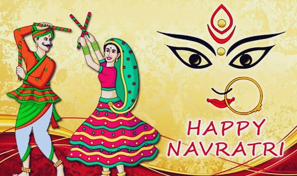 Happy navratri greetings wishes messages with images photos 2018 m4hsunfo