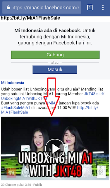 Halaman Download Video Facebook
