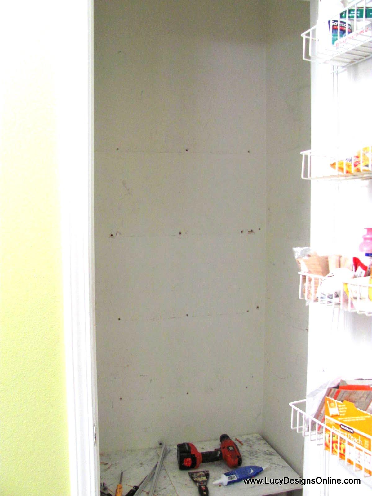 Kitchen Pantry Makeover Diy Installing Wood Wrap Around
