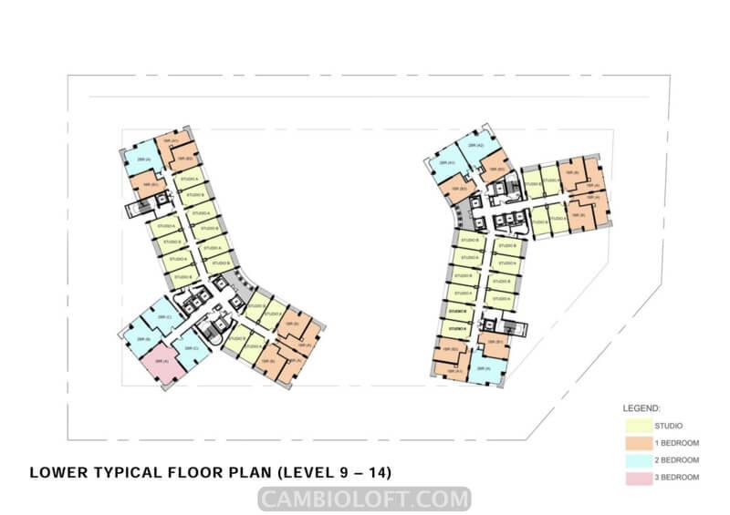 Floor Plan Lt 9-14 Cambio Lofts Alam Sutera
