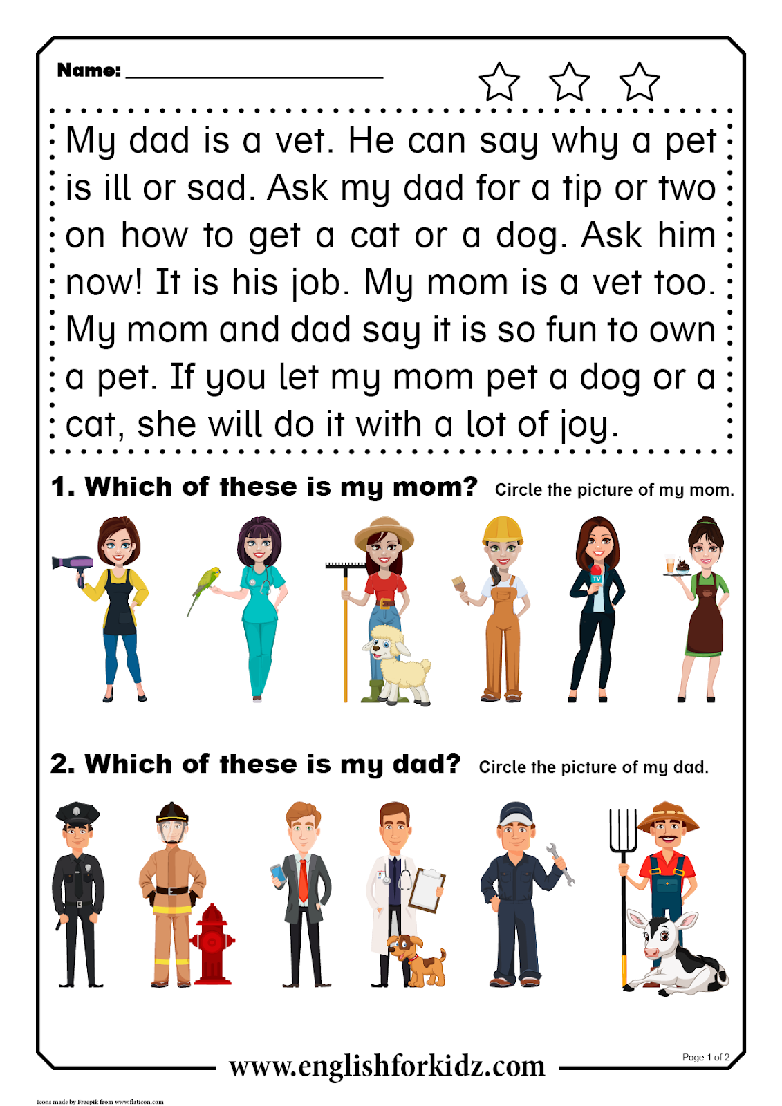 English For Kids Step By Step Reading Comprehension
