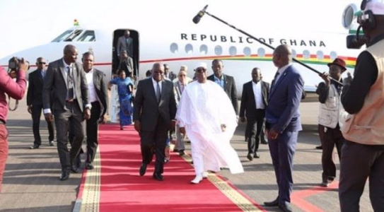 PRESIDENT AKUFO-ADDO OF GHANA MAKES HIS FIRST OFFICIAL TRIP TO MALI