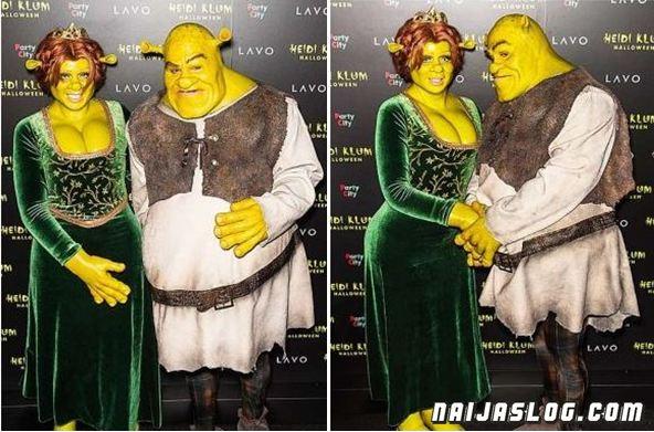 Heidi-Klum-boyfriend-Tom-Kaulitz-shrek-halloween-Naijaslog
