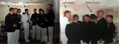 LtCol Eric Carlson USMC (Ret.), Col Craig Huddleston USMC (Ret.), Col Chris Conlin USMC (Ret.), and General John Kelly USMC (Ret.) and current White House Chief of Staff.