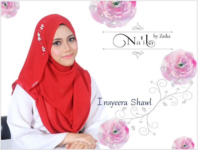 Na'ila Shawl By Zaika  Insyeera Shawl
