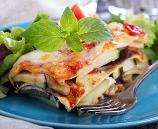 Pumpkin and zucchini lasagna